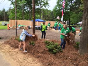 Keep Mississippi Beautiful partnered with Keep Ridgeland Beautiful to transform Midway Park.